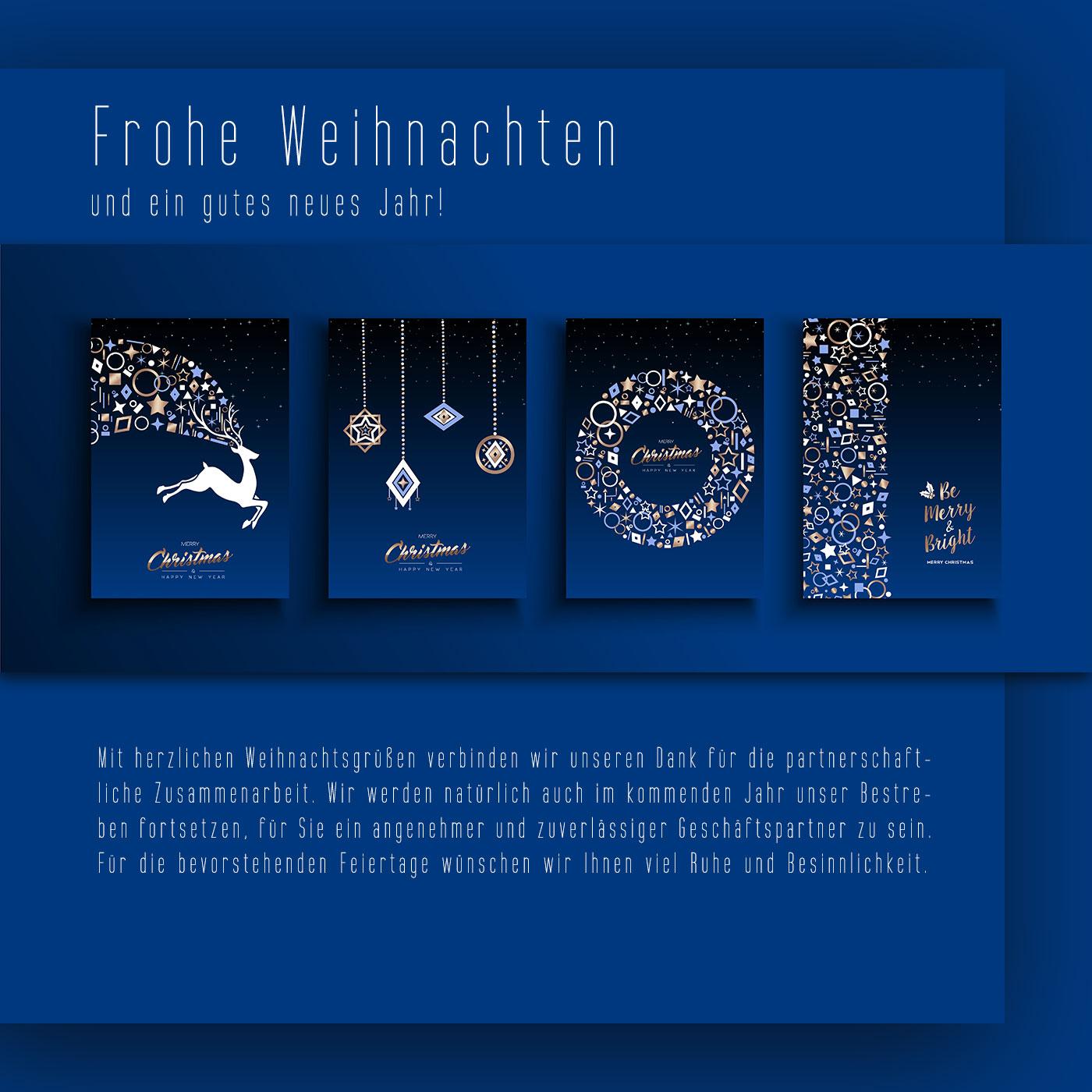 Geschäftliche Weihnachts E-Card – ohne Werbung – umweltfreundlich und ökologisch.