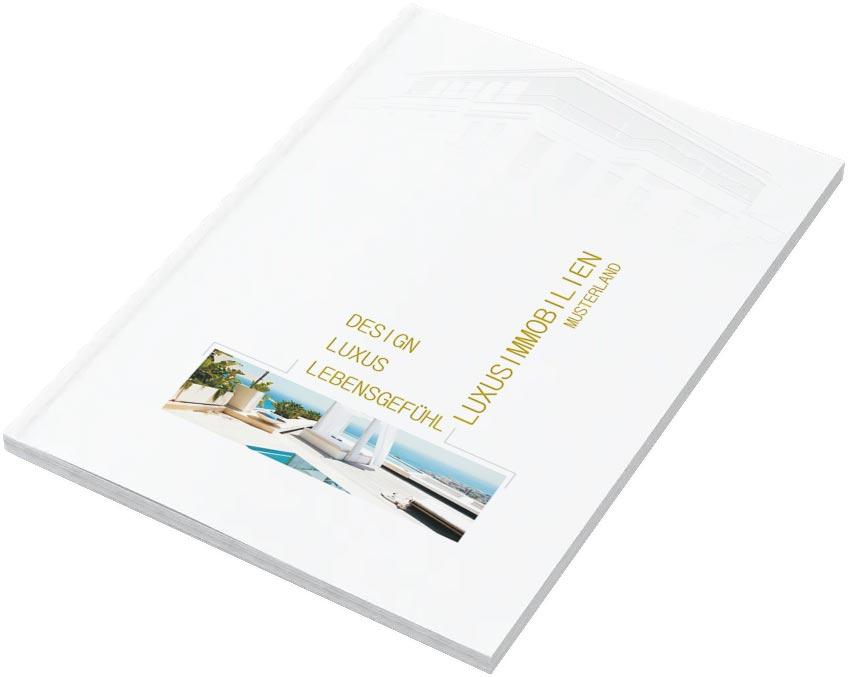 """Exklusive Exposé Vorlagen """"White & Gold"""" für Immobilienmakler - WHITE & GOLD"""