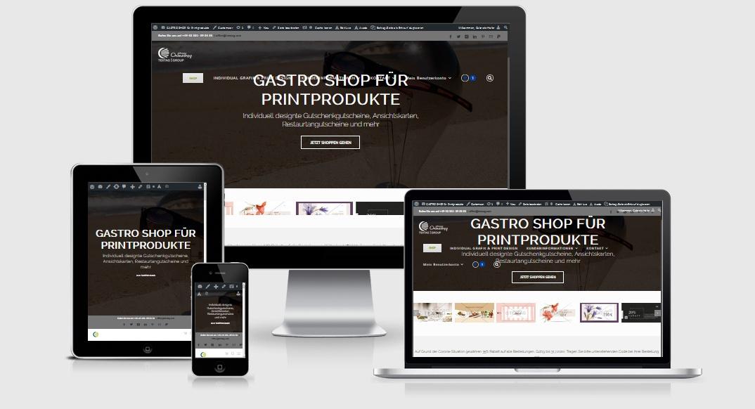 GASTRO SHOP FÜR PRINTPRODUKTE Individuell designte Gutschenkgutscheine, Ansichtskarten, Restaurtangutscheine und mehr