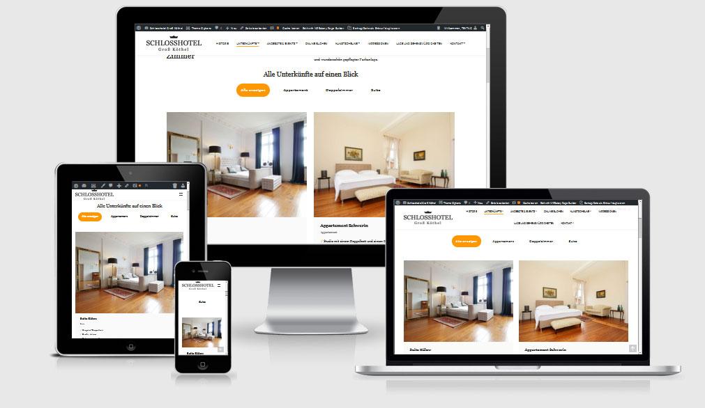 Webdesign-Referenz Gutshaus Schlosshotel Groß Köthel, Hohen Demzin OT Groß Köthel