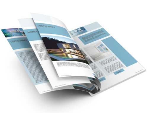 Exposé / Broschüre IMMOPOOL Vorlage für Architekten und Immobilienmakler DIN A4, Hochformat