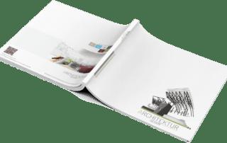 Broschüre / Exposé Vorlage für Architekten und Immobilienmakler DIN A4, Querformat.TEXTAG DESIGN