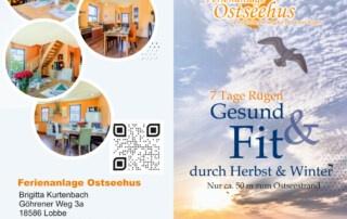 Flyer, Firmenschild und Fotografie - Grafikdesign Referenz - Ferienanlage Ostseehus