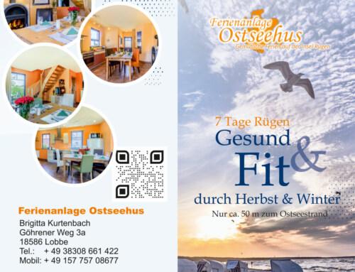 Flyer, Firmenschild und Fotografie – Grafikdesign Referenz – Ferienanlage Ostseehus, Lobbe
