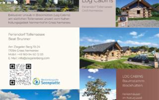 Flyer, Visitenkarten, Grafikdesign Referenz - Feriendorf Tollensesee