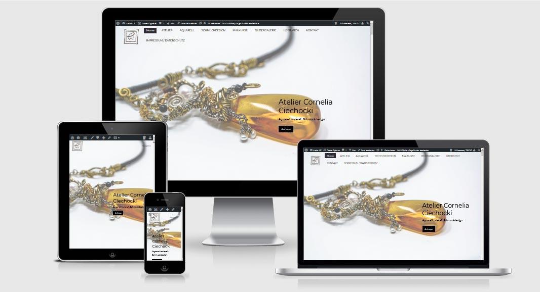 Website Referenz, One Page - Atelier-CC.de, Rappin / OT Moisselbritz