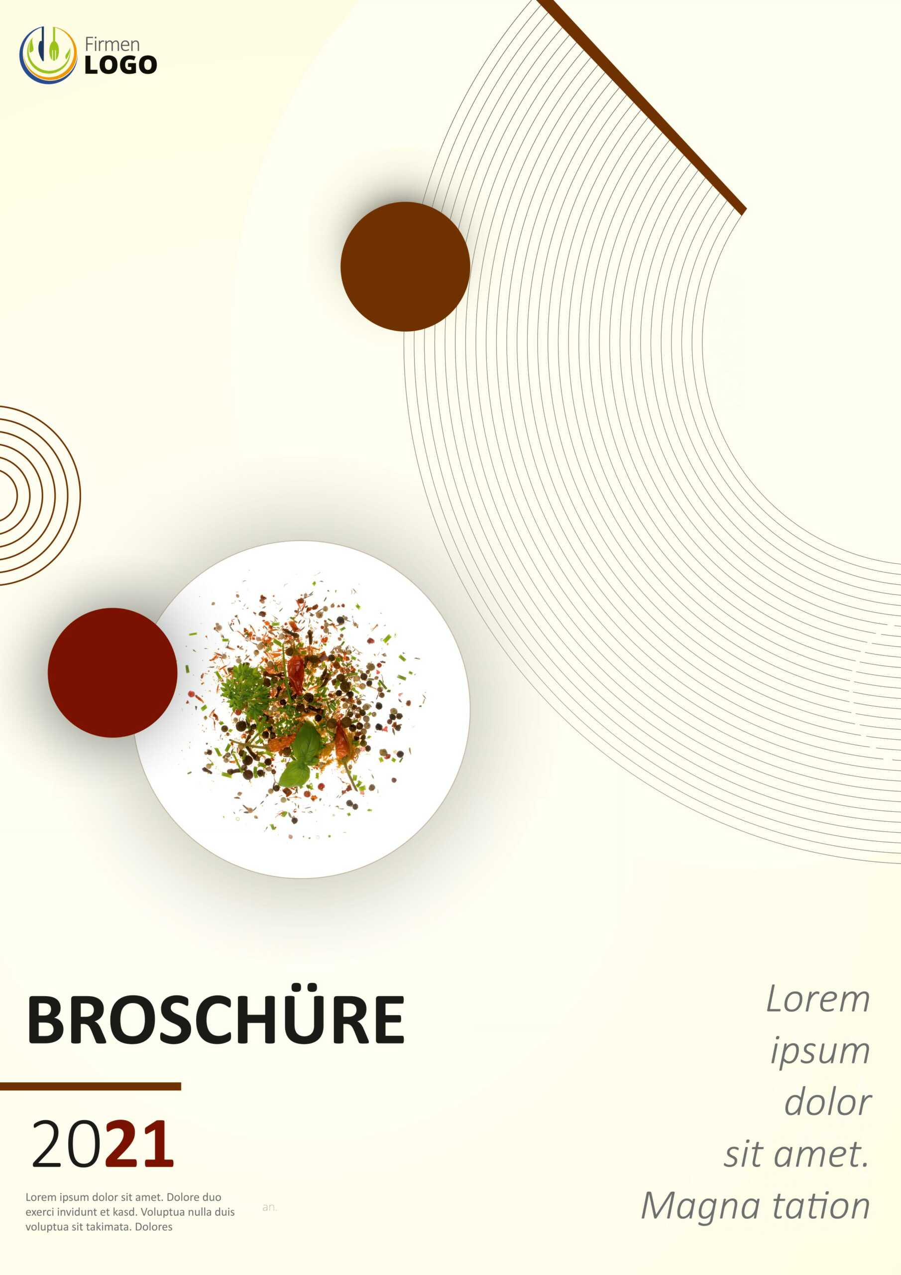 Speisekarten Design - Broschüre DIN A4, Hochformat