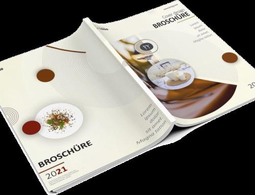 Speisekarten Design – Broschüre DIN A4, Hochformat