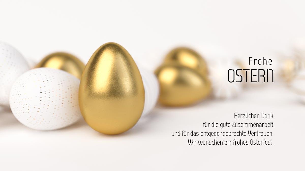 Oster E-Cards. Ohne Werbung. Ökologisch. Überraschen Sie Ihre Kunden mit einer elektronischen Ostergrußkarte!