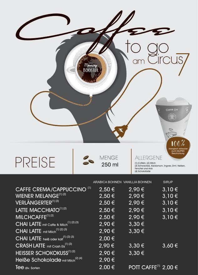 NEU: Coffee to go am Circus 7