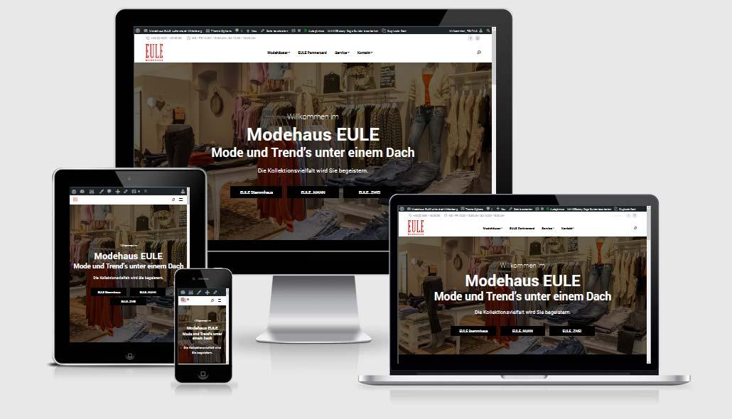 Webdesign Referenzen: Modehaus EULE, Lutherstadt Wittenberg